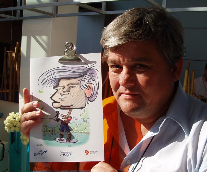 www.marceloguerra.com.ar / CARICATURISTA EN VIVO / caricaturas en fiestas