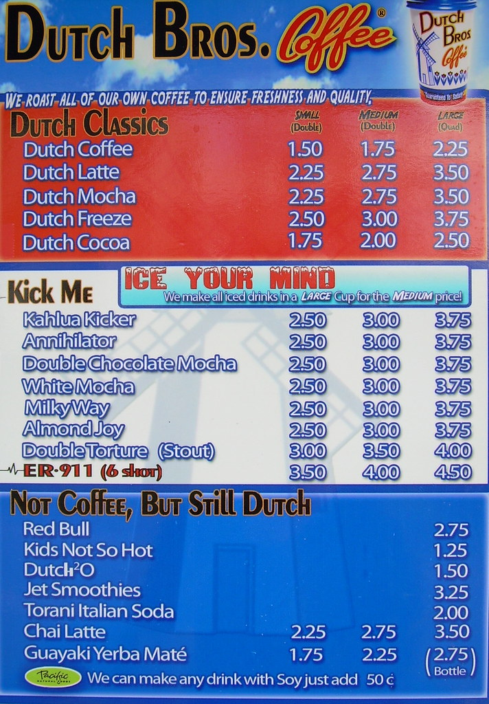 Dutch Bros Coffee_the menu | With name like Annihilator, Sta… | Flickr