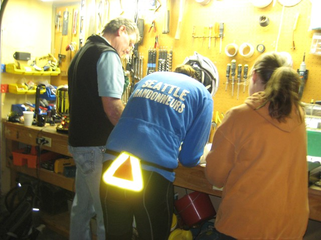 Ride start registration in the Tilden garage