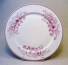 CARIBE CHINA red floral patterned dinner plate - Vintage RESTAURANT WARE china | by EraPhernalia Vintage . . . [''playin' hook-y''] ;o