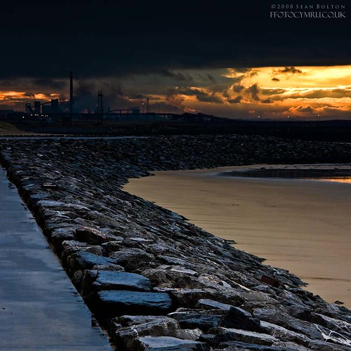 wales sunrise coast steel cymru coastal coastline steelworks aberavon porttalbot