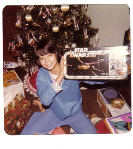 Me 11 years old in 1977 with my Star Wars Escape From Death Star game for Christmas :)