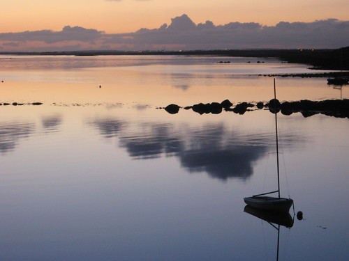 ireland sunset galway clouds reflections still dusk calm kinvara digitalcameraclub kinvarabay