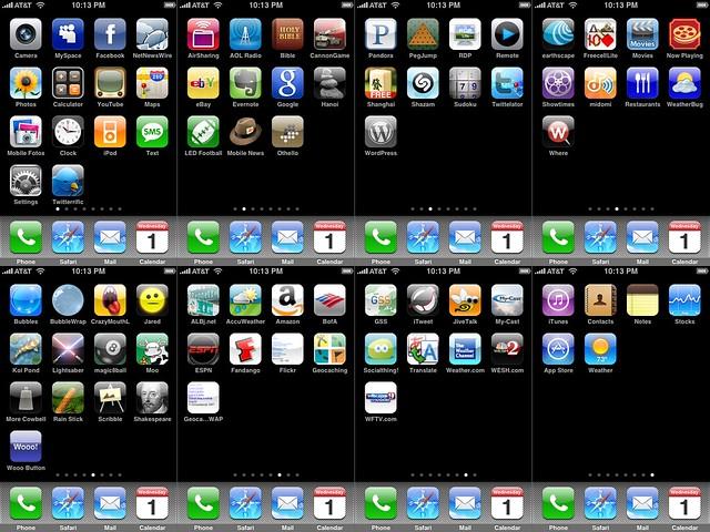 iPhone Home Screens, October 1, 2008