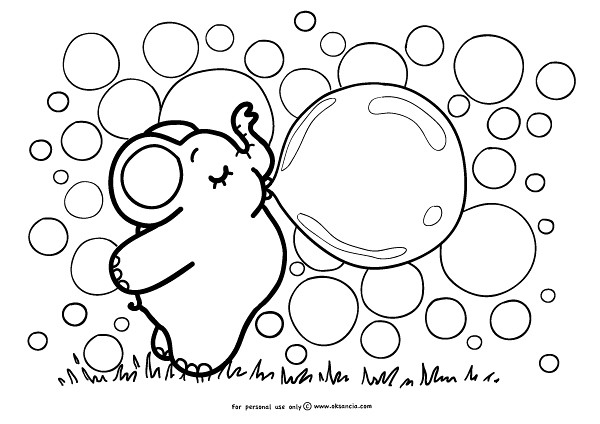 Bubbles Weekly Free Coloring Page By Oksanciafree Colori Flickr
