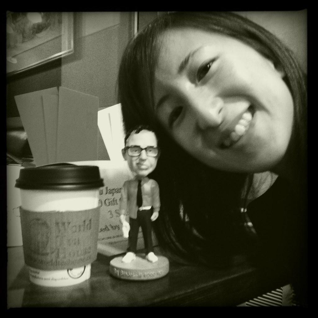 Helen With Raj Binder Bobblehead At World Tea House