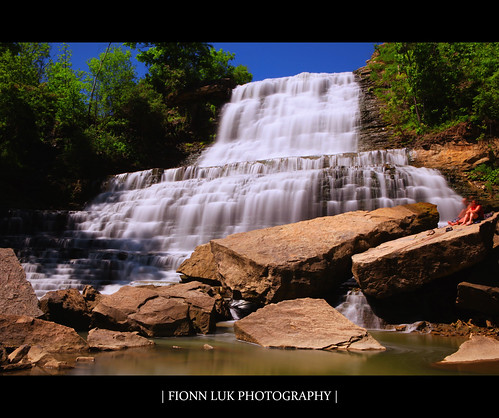 city longexposure blue people ontario canada tree green fall nature water beauty rock canon landscape waterfall long exposure hamilton scene falls 5d albion luk fionn albionfalls
