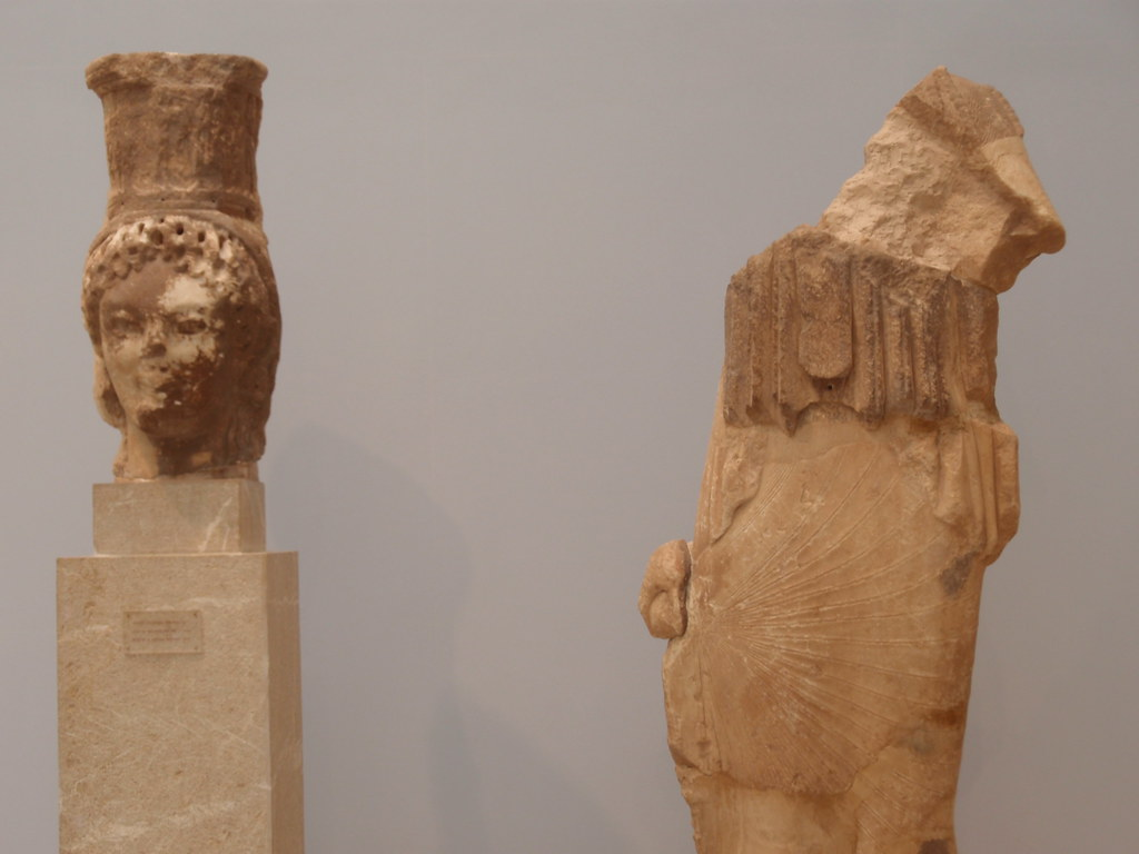 A caryatid from Siphnian Treasury