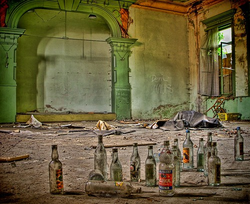 urban house abandoned hotel bottles decay ruin ballroom devil exploration hdr lostplaces lostplace bremerhof batram schwarza wodga veburbexthuringia vanishingextraordinarybuildings