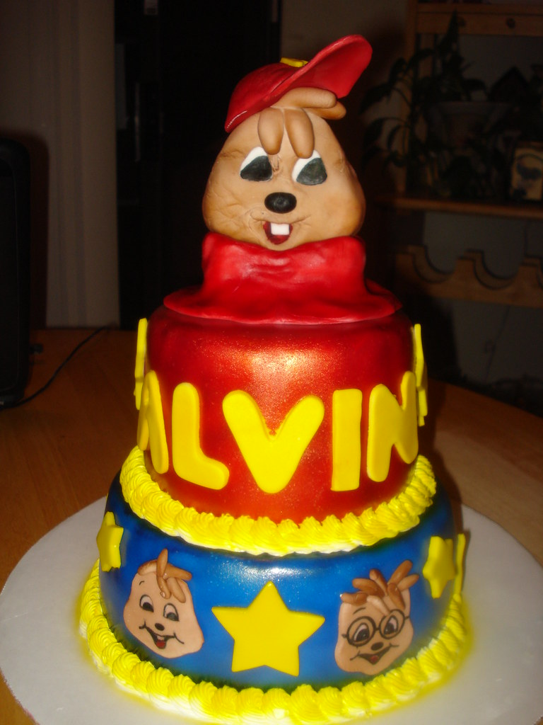 Remarkable Alvin And The Chipmunks Cake Charleyandthecakefactory Flickr Funny Birthday Cards Online Sheoxdamsfinfo