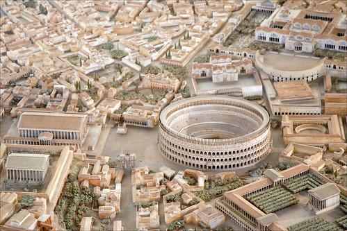 Détail de la maquette de Rome à l'époque de Constantin