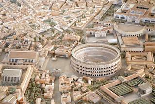 Détail de la maquette de Rome à l'époque de Constantin | by dalbera