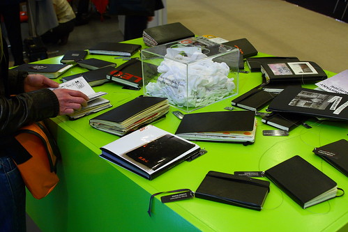 Moleskines @ London Book Fair | by HowAboutNo!