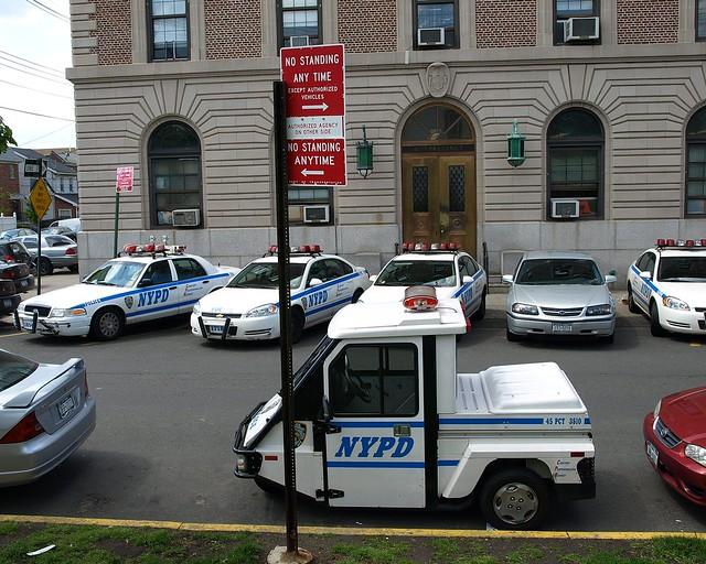 P045 NYPD Police Station Precinct 45, Throggs Neck, Bronx, New York City