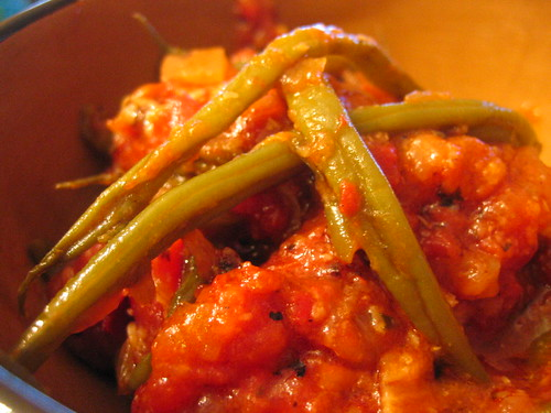 slow cooked green beans and tomato | by tofu666