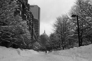 A snowy Southwest Corridor Park