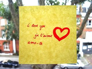 love note / nota de amor   by lilivanili