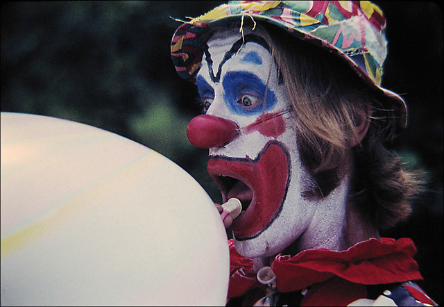Balloons clown in Washington square NYC