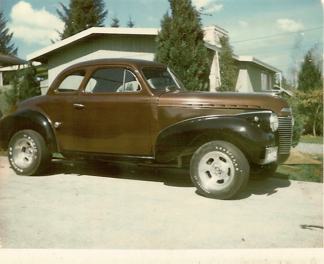 1940 Chevy business coupe hot rod | This is the car in 1972 … | Flickr