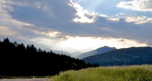 trees light sun mountains verde alberi clouds montagne landscape nuvole val di sole non prato luce paesaggio trentino mygearandme