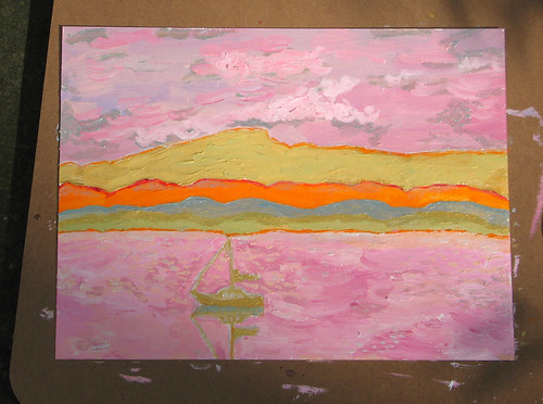 painting of Lake Champlain 9/22/08 | by Kathryn Cramer