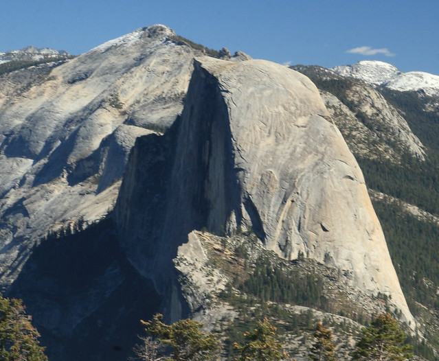 Half Dome and Clouds Rest from Sentinel Dome in Yosemite National Park
