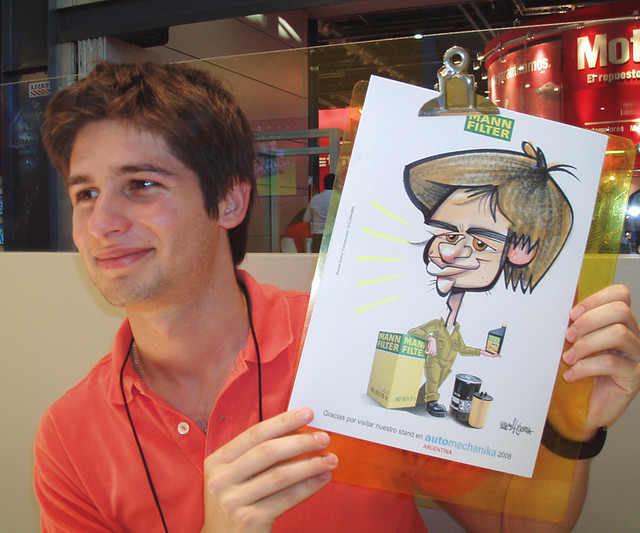 www.marceloguerra.com.ar / CARICATOONS / caricaturas en fiestas