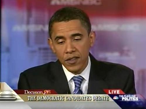 Barack Obama in tonight's debate | by scriptingnews