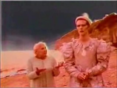 still from David Bowie's 'Ashes to Ashes' video, 1980 | Flickr