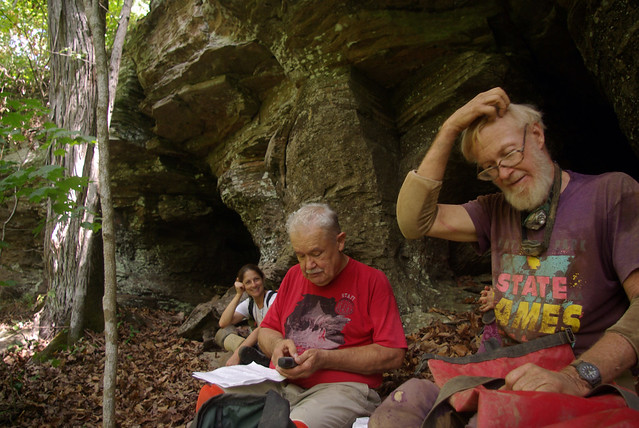 Kristen Bobo laughs at the buffoonary of Gerald Moni and Marion Smith, Sugg View Cave, Scotts Gulf Area, White Co, TN