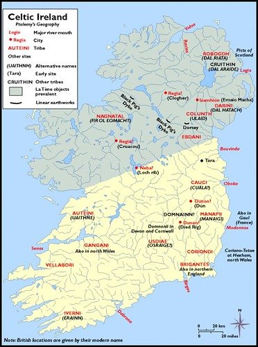 Map Of Ireland With Major Cities.Ancient Ptolemys Map Of Ireland Scotia Major Hibernia Ive Flickr