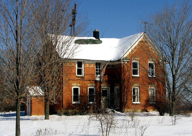 Abandoned Veneklasen Brick Farmhouse