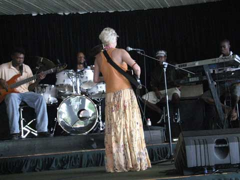 Michael fronting the band 'Heat' in Jamaica - performing as Oh My!