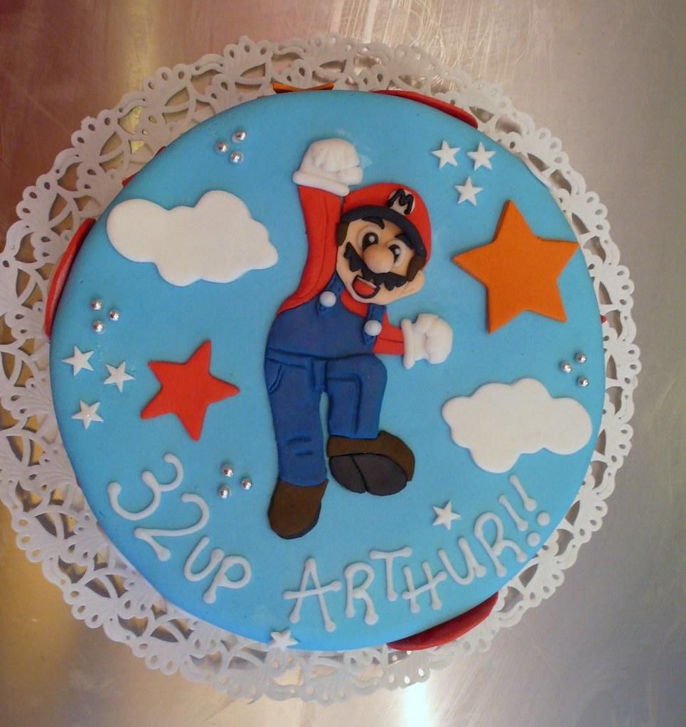 Terrific Super Mario Birthday Cake Super Mario Birthday Cake Made F Flickr Funny Birthday Cards Online Fluifree Goldxyz