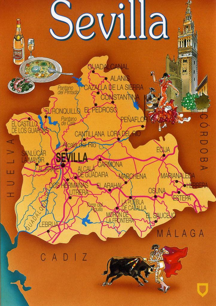 Sevilla Map Card | Spanish Forum map Cards RR. | Jordi ...