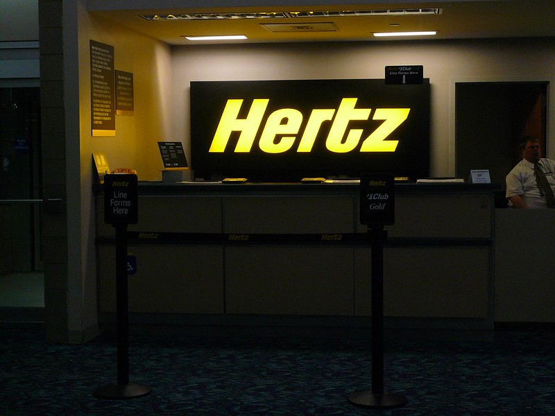 Hertz Rental Car Counter