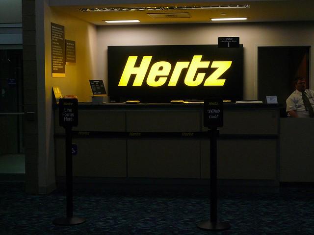 Hertz Rental Car Counter