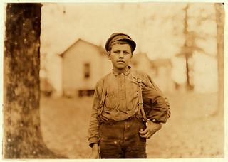 Lewis Hine: Archie Love, mill worker, 14 years old, Chester, South Carolina, 1908