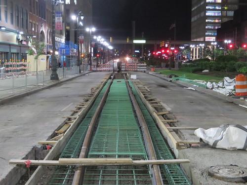 New M-1 Rail streetcar tracks | by Sean_Marshall
