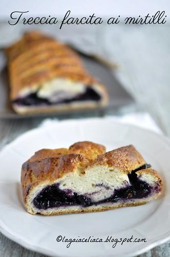 treccia farcita ai mirtilli senza glutine / gluten free blueberry braid   by mammadaia