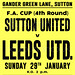 Sutton v Leeds United - 29/01/17