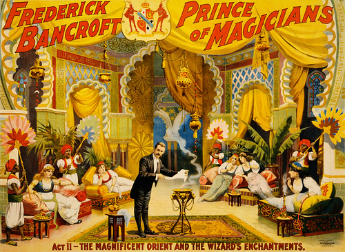 Frederick Bancroft, prince of magicians: the wizard's enchantments, performing arts poster, ca. 1895 | by trialsanderrors
