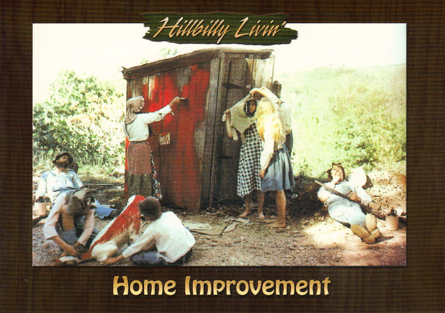 Hillbilly Livin' Home Improvement Postcard