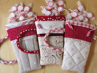 Red White Peppermint Pouches