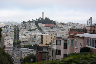 Telegraph Hill from the top of Lombard | by Bruno's Flickr