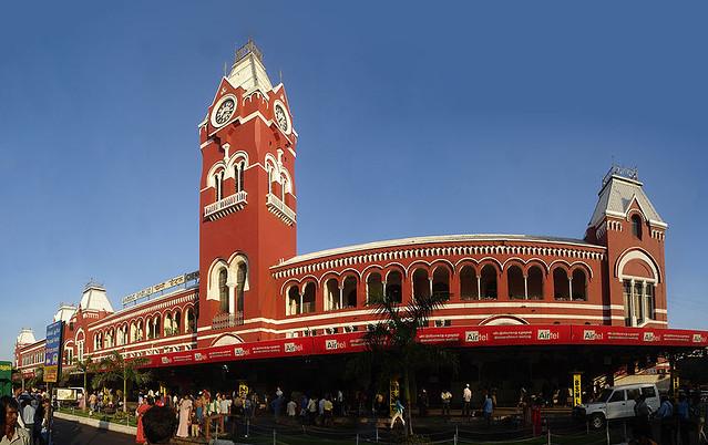 Chennai Central Station panorama