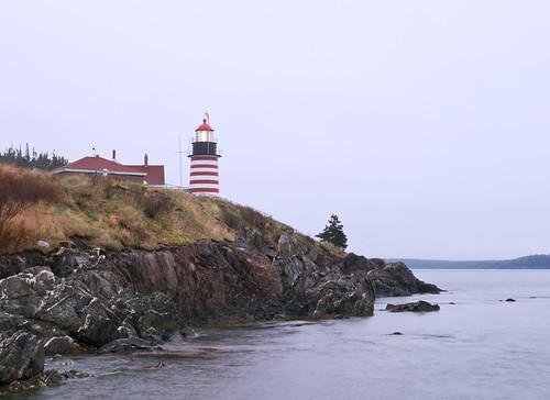 lighthouse sunrise maine lubec westquoddyheadlight