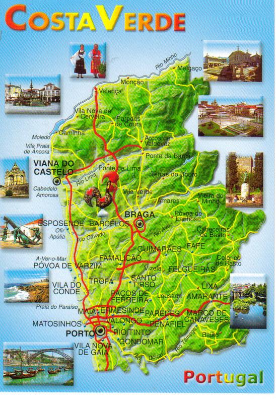 Mapa Costa Verde Portugal Marien Flickr