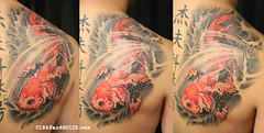 Koi - Custom Tattooing by Kevin Riley - More at CLEANandSOLID.com | by CLEANandSOLID