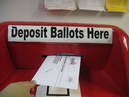 Depositing Ballot, From CreativeCommonsPhoto